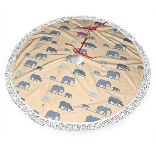 WETG Weihnachtsbaumrock mit Elefanten-Motiv, Dekoration, Neujahr, Festliche Feiertage Party Dekoration, Schwarz, 91,4 cm (36 Zoll)