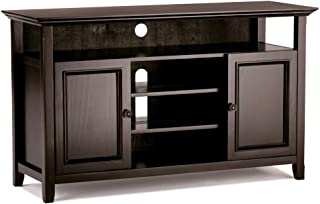 Simpli Home Amherst Media TV Stands, Hickory Brown