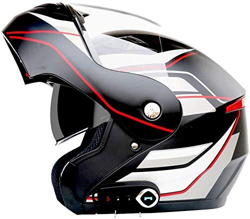 CPSTM Motorrad Bluetooth Helm Modular Helm Flip Doppel Sonnenschutz Anti-Fog Erwachsenen Offroad Helm Eingebauter Lautsprecher Headset Mit Mikrofon Kann Automatisch Beantworten