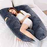 U Shaped Body Pillow, Hypoallergenic Comfortable Pregnancy Pillows For Sleeping, Maternity Pillow...