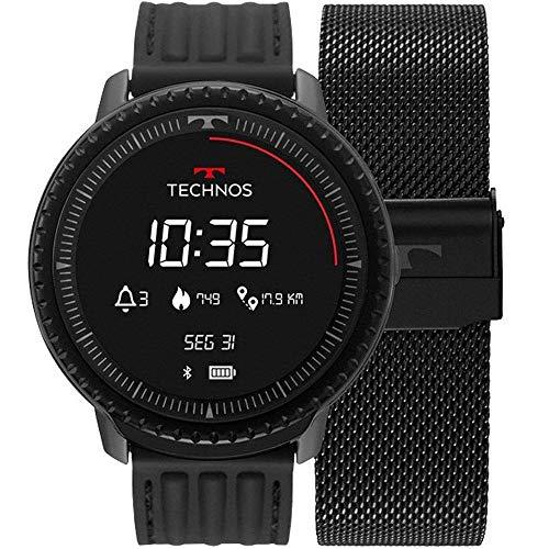 Smartwatch Technos Unissex Connect Id Preto - L5aa/1p