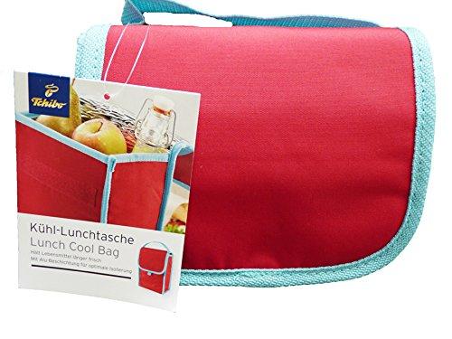 TCM Tchibo Kühltasche Lunchtasche Picknick Tasche rot mit Alu-Beschichtung