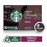 Starbucks Dark Roast K-Cup Coffee Pods — French Roast for Keurig Brewers — 6 boxes (60 pods...