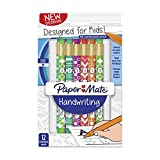 Paper Mate 2017486 Handwriting Triangular Mechanical Pencils, 1.3mm, HB #2, Fashion Wraps, 12-Count, Assorted Colors