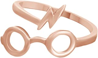 AFFY 哈利波特眼镜闪电开口环 14K 金纯银