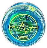 Duncan Toys Pulse LED Light-Up Yo-Yo, Intermediate Level Yo-Yo with Ball Bearing Axle and LED Lights, Clear/Blue