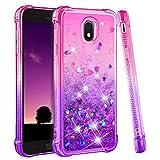 Galaxy J7 2018 Case, Galaxy J7 Crown Case, Galaxy J7 Star Case, J7 Refine Case,Galaxy J7 V J7V 2nd Gen Case,J7 Aura Case,Ruky Glitter Flowing Liquid Phone Case for Samsung Galaxy J7 2018,(Pink Purple)