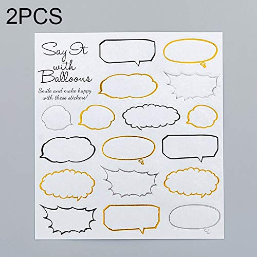 YKDY 2 PCS Dialog Box Muster Kreative Cartoon Kinder Tagebuch Dekorative Aufkleber
