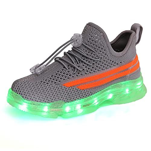 Zapatos LED para niños, Zapatos Deportivos con luz, Zapatos al Aire Libre, 7 Colores Que cambian de Color, Zapatos para niños, Zapatillas para niños pequeños, Zapatos Luminosos con Estrellas