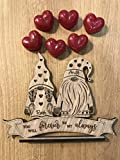Tarjeta de madera de San Valentín para siempre personalizable con grabado + 6 velas en forma de corazón para derretir la cera aromática de fresa para novio