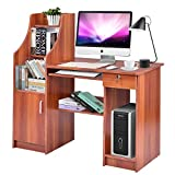 Best Tangkula Office Desks - Tangkula Computer Desk, Wood Frame Home Office Efficient Review