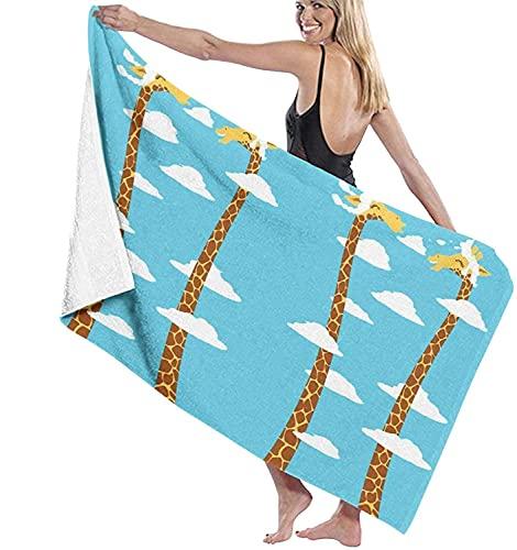 Toallas de baño Jirafa Cuello Largo Playa Vacaciones Ultra Suave Toalla Grande Toalla de 31 '* 51' para Ducha de baño para niños pequeños
