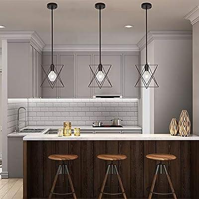 MELUCEE Sputnik Chandelier Pendant Industrial Ceiling Light Flush Mount for Dining Room Kitchen Living Room Hallway