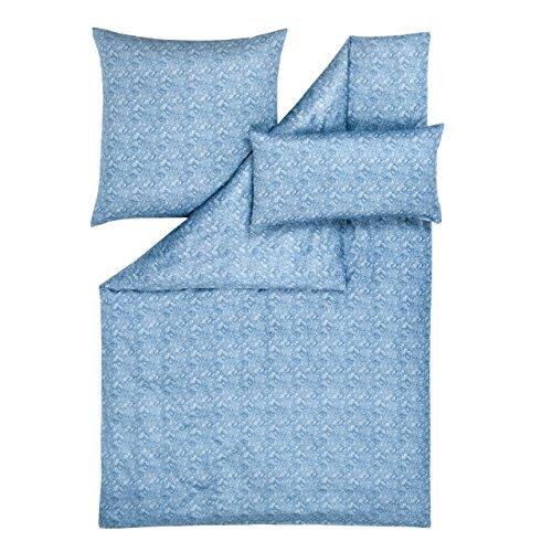 Estella Parure de lit de luxe en satin davin-mirvault colombe, Coton, Tourterelle, 135x200 cm + 80x80 cm + 40x80 cm