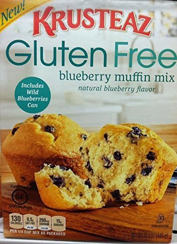 Krusteaz Gluten Free Blueberry Muffin Mix with Wild Blueberries in a Can (Pack of 3)