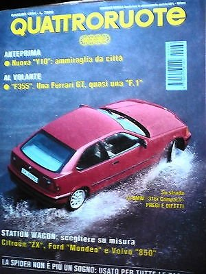 Quattroruote 464 'giu '94, BMW 316i Compact, Ferrari F355, Volvo 850, FF07
