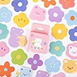 Cute Bear Flower Papelería Decorativa Mini Pegatinas Set Scrapbooking DIY Diario Álbum Stick Lable 46 Uds