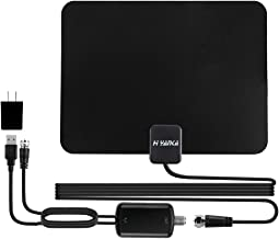 【Advanced Technology】 H YANKA Amplified HD Digital TV Antenna Long 120+Miles Range for 4K 1080p Free UHF,VHF&All Order TV Channels with Detachable Signal Amplifier-Average of 150 Channels,17ft Cable
