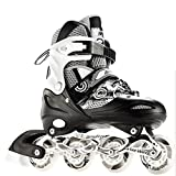 ZCRFY Schuhe Erwachsene Studenten Vollblitz Skates Kinder Leuchtende Einstellbare Rollschuhe -