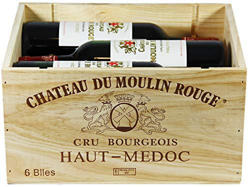 Château du Moulin Rouge 2016 A.O.C. Bordeaux Haut-Médoc Cru Bourgeois Rotwein trocken in OHK (6 x 0,75l)