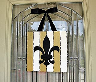 New Orleans Black and Gold Fleur de Lis 12
