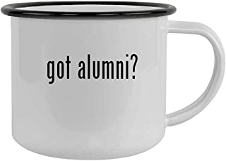 got alumni? - 12oz Camping Mug Stainless Steel, Black