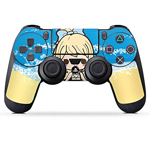 DeinDesign Skin kompatibel mit Sony Playstation 4 PS4 Controller Aufkleber Folie Sticker Beach Strand Kawaii