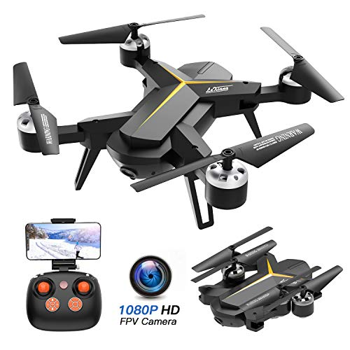 Foldable Drone with 1080P HD Camera for Adults and Kids - WiFi FPV RC Quadcopter with Altitude Hold, Gravity Sensor, One Key Start/Land/Return, Easy to Fly for Beginners