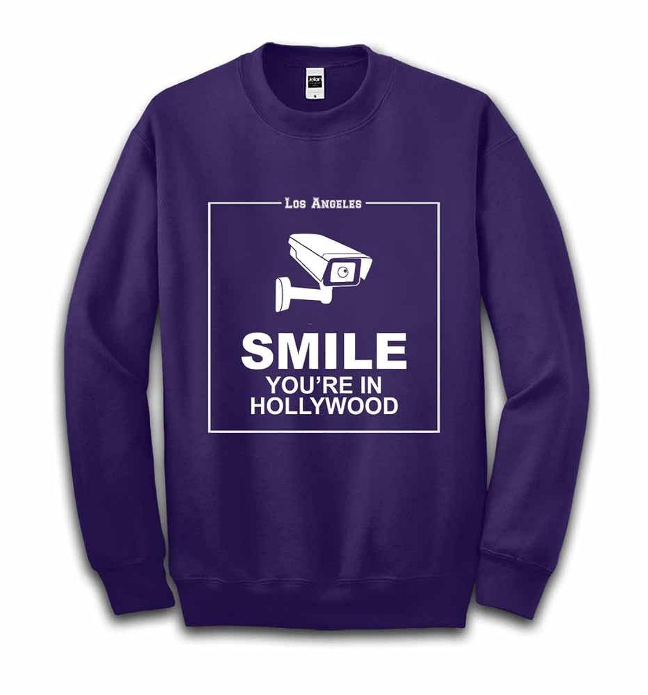 Fox Republic 監視カメラ 「ほら笑って、ハリウッドにいるんだから」 パープル キッズ スウェット 150cm