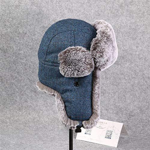 YUIOLIL Hiver Ushanka Bomber Chapeaux Preuve Chapeaux Pour Hommes Femmes Chapeau Épaississement Chapeau Casquettes De Neige Earflap En Plein Air