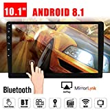 10.1' Android 8.1 Car GPS Double 2Din Quad Core 16GB Touch Screen in Dash Car Stereo Radio Navigation with Bluetooth GPS WiFi DAB OBD SWC Mirror Link Multimedia