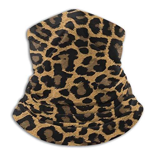 XCNGG Pasamontañas con Estampado de Leopardo Diadema Multifuncional Bufandas Deportes a Prueba de Viento Sombreros Casuales