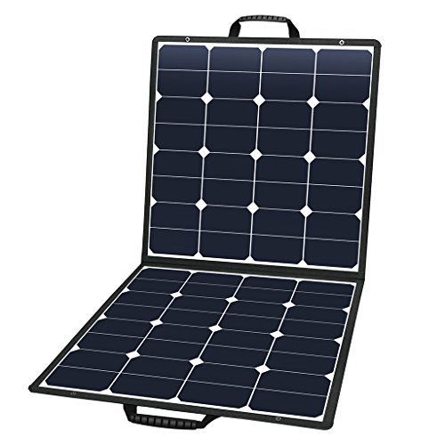 SUAOKI Solar Charger 100W Portable Solar Panel Foldable Portable Generator/Goal Zero Yeti Power Station/ROCKPALS Generator/Jackery/Enkeeo/Webetop/Paxcess Battery Pack and Laptops,Smartphone