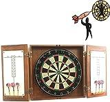 XUHRA Profesional Dardos Set, 18'Dardos De Doble Cara, con Seis Dardos Torneo Imanes De Tamaño Número De Destino Interna De Excelente Bar En La Habitación