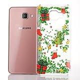 SpiritSun Funda para Samsung A5 2016, Carcasa con Líquido y Transparente, Silicona Dura Case Bumper TPU Tapa Trasero para Samsung Galaxy A5 2016 Anti Rasguños Protector Caso - Cerdo de Navidad