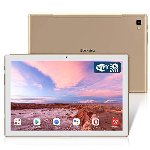 Blackview Tab 8E Tablet 10.1 Zoll, 1920x1200 FHD IPS Bildschirm Android 10 Octa-Core Prozessor Tablet PC mit 6580mAh Akku, 13MP+5MP Kamera, 3GB RAM, 32GB Speicher, 5G WiFi GPS OTG Type-c (Gold)