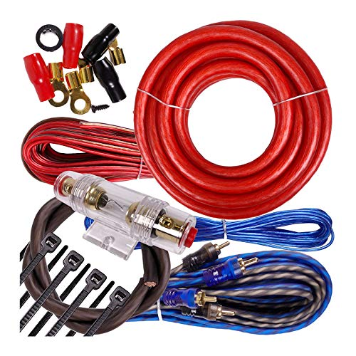 Complete 2500W Gravity 4 Gauge Amplifier Installation Wiring Kit Amp PK3 4 Ga Red - for Installer and DIY Hobbyist - Perfect for Car/Truck/Motorcycle/RV/ATV