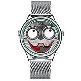 Personalidad de Moda Aleación de Cuarzo Joker Relojes Reloj de Reloj Deportivo Impermeable Hombres Reloj Hombre (Color : Style 6)