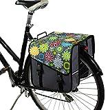 BikyBag Clásica S - Doble Alforjas Bolsa para Bicicleta (Margarita en Gris)
