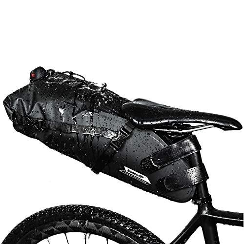 WILDKEN Borse Bicicletta Impermeabile Borsa per Bici MTB Borsa da Sella Borsa per Ciclismo Viaggio (Nero-13L)