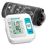 Tensiomètre, MEDGRAM Précise Tensiometre Bras Électronique, Automatique & Intelligent Moniteur, Grand Écran LCD et Brassard Ajustable, Dépistage de L'arythmie, 2 Utilisateurs, Certifié CE/FDA