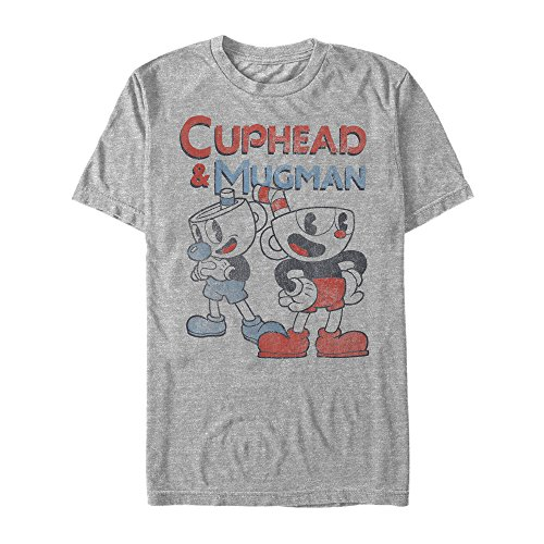 Fifth Sun Cuphead Men's Best Friend Mugman Athletic Heather T-Shirt