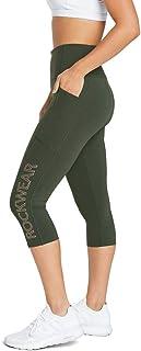 Rockwear Activewear Women's 3/4 Logo Pocket Tight from Size 4-18 for 3/4 Length Ultra High Bottoms Leggings + Yoga Pants+ ...