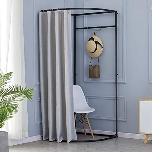 YXYECEIPENO Kit de cortina de ducha temporal de esquina para uso al aire libre con estante de metal plegable para habitación (10 colores, tamaño: 85 x 85 x 200 cm) (color: plata)