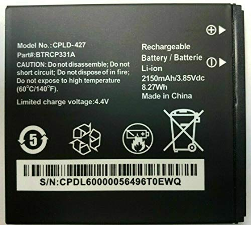 Battery for Coolpad Surf BTRCP331A CPLD-427 2150mAH