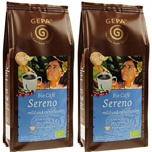 GEPA Bio Kaffee Sereno entkoffeiniert gemahlen 500 g ( 2 x 250g )