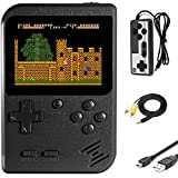 Imponigic Handheld Game Console Retro Mini Game Player with 500 Classic FC Game 1020mAh Rechargeable Battery 3 Inch Color Screen Best Childhood Memory Present for Kids and Adult
