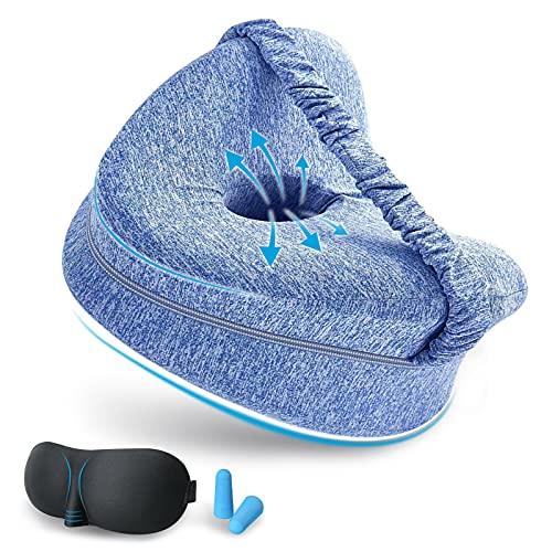 Almohada Piernas Dormir De Lado - Sueño Confortable Cojin Rodillas Comfy Pillow Entre Las Piernas Espuma Memoria Ergonómico Cojin Ciática Almohadas Ortopédicas para La Espalda Cadera Lumbar