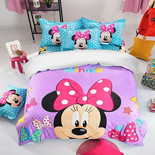 ZKDT Disney Minnie Juego de funda de edredón y funda de almohada, 3 unidades