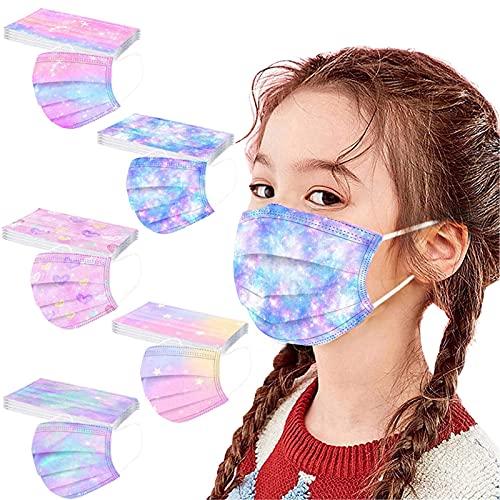 50PCS Disposable Face_Masks for kids Children Boys Girls